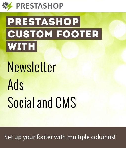 PrestaShop Custom Footer