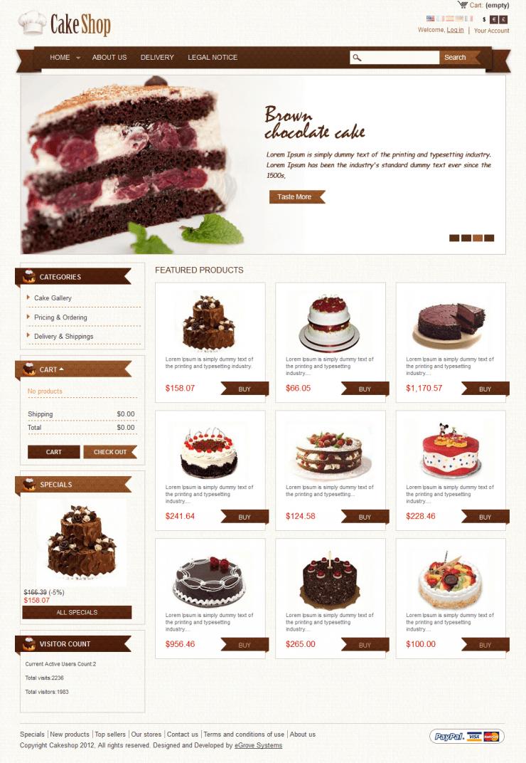 Cake Shop Theme