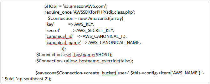 Create bucket with registered id in AWS