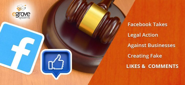 fake like and comment and facebook legal action