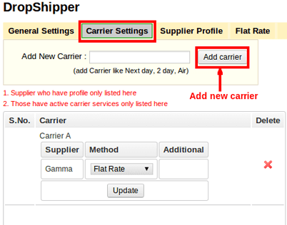 Create Own Shipping