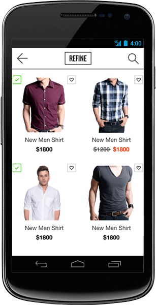 ecommerce app builder for android