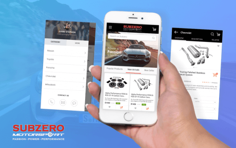 Subzero motor sports mcommerce app
