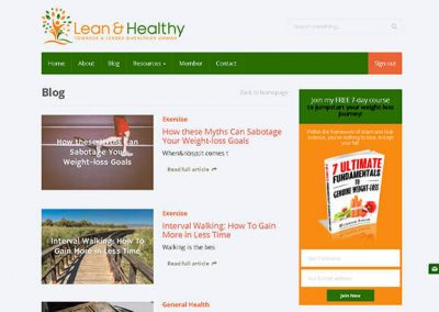 Lean and Healthy Screen 3